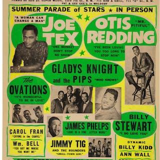 Otis Redding / Joe Tex 1965 Rhythm & Blues Globe Concert Poster. ...