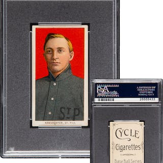 1909-11 T206 Cycle 350 Herman Armbruster PSA EX+ 5.5 - Pop One, Highest