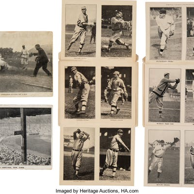 1911 Berger Postal Card Co. Philadelphia Athletics & New York Giants