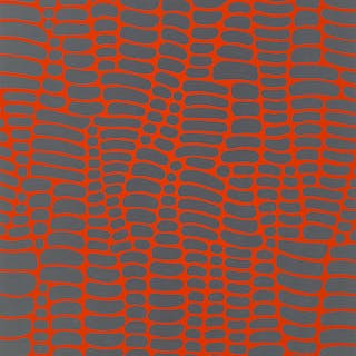 Paul Maxwell (b.1925) Untitled - Red and Blue Web, 1978 Serigraph
