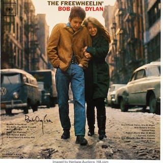 Bob Dylan Signed The Freewheelin' Bob Dylan Reissue Mono Vinyl LP