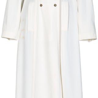 Farrah Fawcett Owned Black Floral Dress And White Plein Sud Coat.