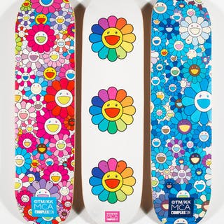 Takashi Murakami X ComplexCon Multi Flower 8.0 Skate Decks (Blue