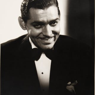 Clark Gable Photograph from Original Negative Hand Signed by Photographer.  ...