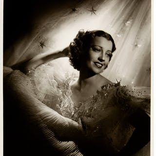 Jeanette MacDonald Black and White Photo Made from Original Negative