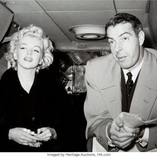 Marilyn Monroe/Joe DiMaggio On Honeymoon Black and White Photo Made