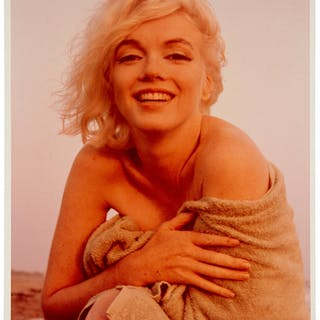 """Marilyn Monroe """"2N"""" Color Photo Signed by Photographer. ..."""