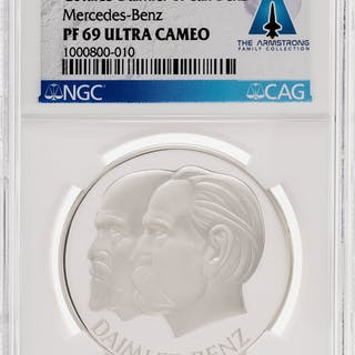 Medals: Daimler-Benz Silver Medal, PF69 ULTRA CAMEO NGC, Directly