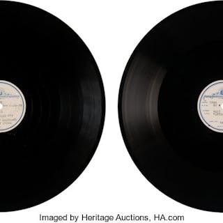 Judy Garland Acetate 78s (2) (MGM, circa 1939 &1942).  ...