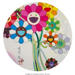 Takashi Murakami (Japanese, b. 1962) Even the Digital Realm has Flowers