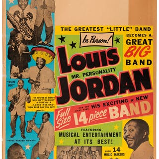 Louis Jordan 1951 Globe Posters Window Card Tour Blank. ...