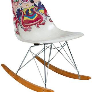 Takashi Murakami X ComplexCon X Modernica Rocking Chair, 2017 Fiberglass