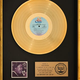Barry White Just Another Way to Say I Love You RIAA Gold Sales Award