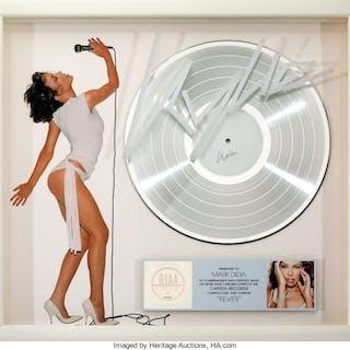 Kylie Minogue Fever RIAA Hologram Platinum Sales Award (Capitol, 2001).  ...