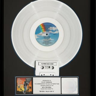 Beverly Hills Cop II RIAA Hologram Platinum Sales Award (MCA, 1987).  ...