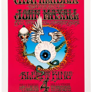 "Jimi Hendrix Large Limited-Edition Artist-Signed ""Flying Eyeball"""