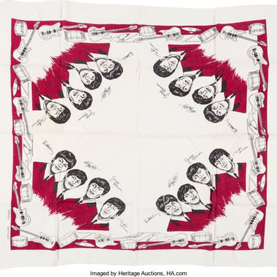 The Beatles Tablecloth (1964).  ...
