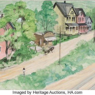 Hello Dolly! Set Design Paintings and Sign (1969).  ... (Total: 3 Items)
