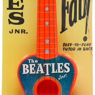 The Beatles Junior Guitar on Original Display Card with Instruction