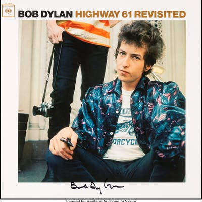 Bob Dylan Signed Highway 61 Revisited Reissue Stereo Vinyl LP (Legacy/Columbia