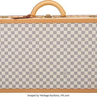 """Louis Vuitton Damier Azur Coated Canvas Shoe Trunk  Condition: 2 24"""""""