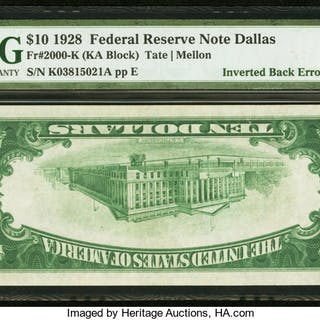 Fr. 2000-K $10 1928 Federal Reserve Note. PMG Extremely Fine 40. ...