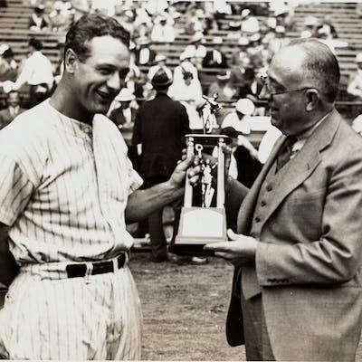1935 Lou Gehrig Original News Photograph, PSA/DNA Type 1.