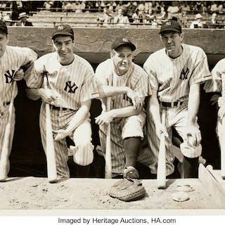 1938 New York Yankees Stars Oversized Original New Photograph, PSA/DNA Type 1.