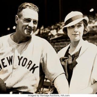 1933 Lou Gehrig Original News Photograph, PSA/DNA Type 1.