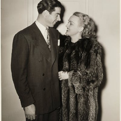 1940's Joe DiMaggio & Dorothy Arnold Original Oversized Photograph