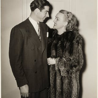 1940's Joe DiMaggio & Dorothy Arnold Original Oversized Photograph