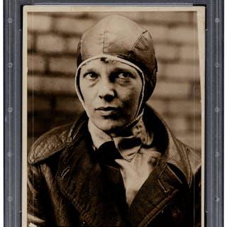 Circa 1930's Amelia Earhart Original News Photograph, PSA/DNA Type 1.