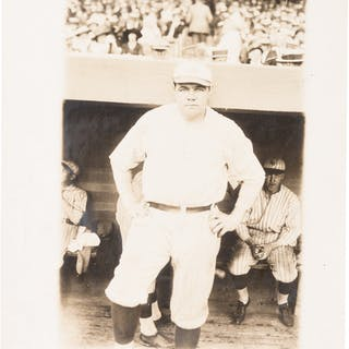 1922 Babe Ruth Original News Photograph by Bain, PSA/DNA Type 1.