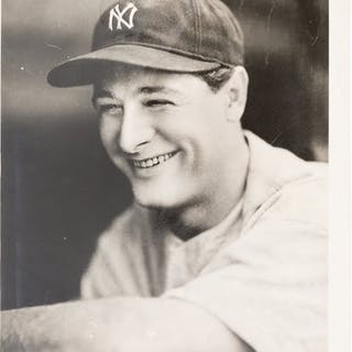 1930's Lou Gehrig Original Photograph by George Burke, PSA/DNA Type 1.