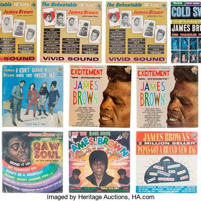 James Brown Group of 14 Vinyl LPs.  ... (Total: 14 Items)