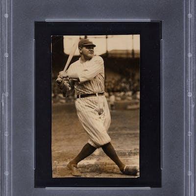 Circa 1920 Babe Ruth Original Photograph by Charles Conlon, PSA/DNA Type 1.