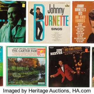 Group of 11 Various Country Vinyl LPs.  ... (Total: 11 Items)
