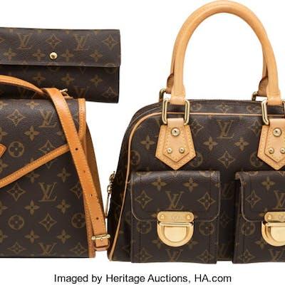 Louis Vuitton Set of Four: Brown Monogram Bags, Wallet & Key Holder