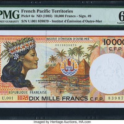 French Pacific Territories Institut d'Emission d'Outre-Mer 10,000