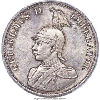 German Colony. Wilhelm II 2 Rupien 1893 MS66 PCGS,...