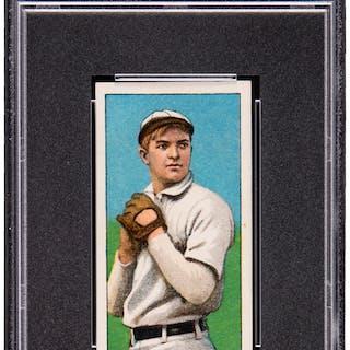 1909 11 T206 Hindu Brown Christy Mathewson White Cap Psa