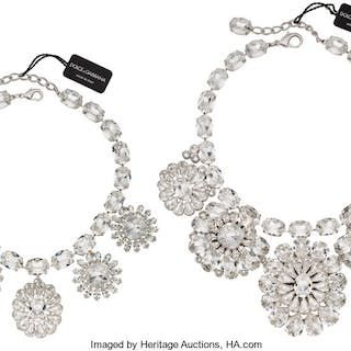 Dolce & Gabbana Set of Two: Crystal Necklaces Condition: 2 See Extended