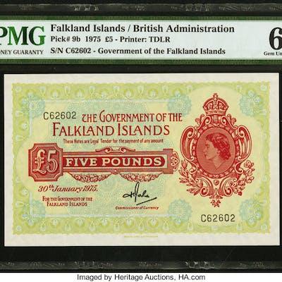 Falkland Islands Government of the Falkland Islands 5 Pounds 30.1.1975