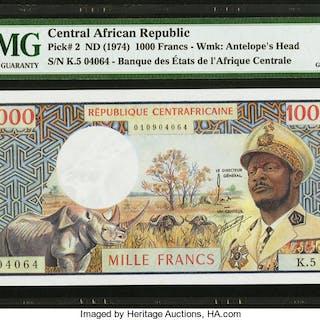 Central African Republic Banque des Etats de l'Afrique Centrale 1000