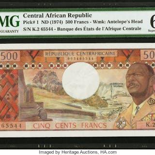 Central African Republic Banque des Etats de l'Afrique Centrale 500
