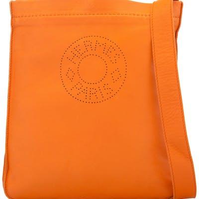 Hermès Orange Agneau Leather Small Crossbody Bag M Square, 2009 Condition: