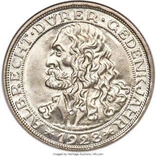 "Weimar Republic ""Dürer"" 3 Mark 1928-D MS65 NGC,..."