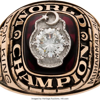 1964-74 Muhammad Ali Two-Time Championship Ring Presented to Don King.