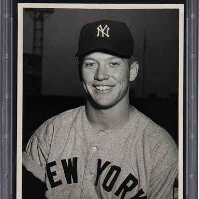 1951 Mickey Mantle Rookie Original Photograph from the Hillerich &
