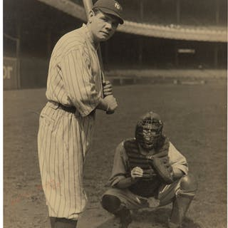 1920 Babe Ruth Original Large Photograph, PSA/DNA Type 1.